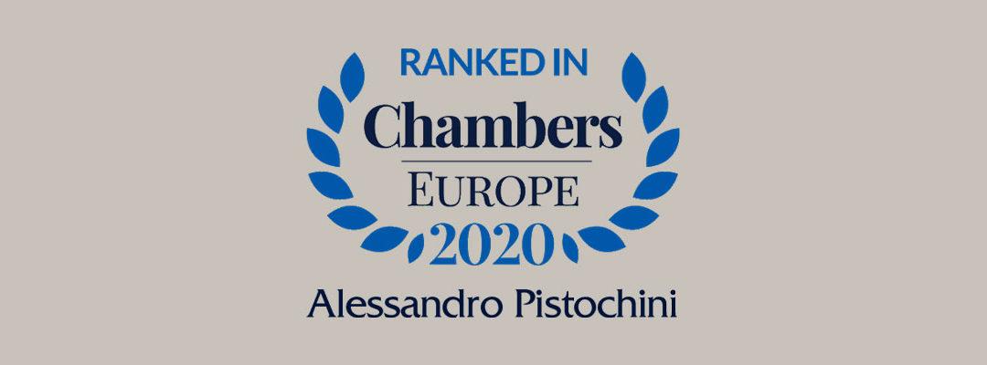 L'Avv. Alessandro Pistochini è stato incluso nei ranking per la practice White Collar Crime di Chambers & Partners Europe/Italy.